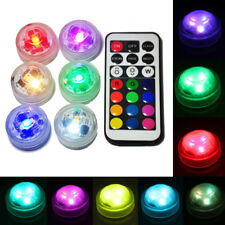 Color Changing Remote 10pcs Waterproof Submersible Leds Tea Lights Underwater UK
