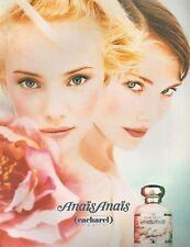 ▬► PUBLICITE ADVERTISING AD PARFUM PERFUME Eau de toilette CACHAREL Anaïs  1994