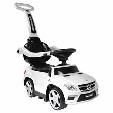 Best Ride On Cars Baby 4-in-1 Mercedes Push Car Stroller with LED Lights, White