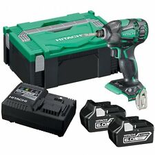 Hitachi Wh18dbdl2/w4 18v Brushless Ip56 Impact Driver Body With Tote Bag