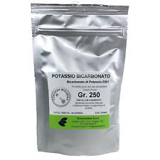 POTASSIO BICARBONATO GR. 250 IN BUSTA RICHIUDIBILE CON MISURINO DA 1-2 GR.