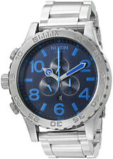 *NEW* NIXON 51-30 A083-2219 WATCH MENS DARK BLUE SILVER TONE - NEXT DAY DELIVERY