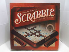 Scrabble Deluxe Turntable Crossword Game Parker Brothers #04034 Pristine 2001!