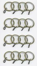 Swish Antique Brass Lined Metal Curtain Pole Rings - Packs of 16 - 19mm dia Pole