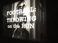 16mm B&W SOUND ORIG. - USC FOOTBALL-Throwing On The Run - 600' Reel/Case 1960's