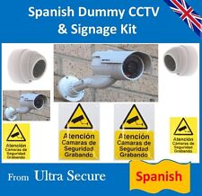 Dummy CCTV Camera's & Spanish Signs & Labels (ideal for Spanish Holiday Homes)