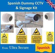 TELECAMERA CCTV FINTA's & spagnolo segni & etichette (ideale per lo spagnolo CASE di vacanza)