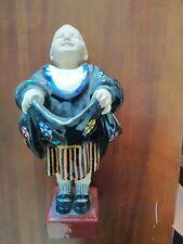 Baccarini ceramica policroma di Faenza rara integra 30 cm. bimbo col grembiule