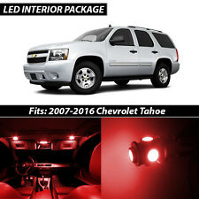 2007-2016 Chevrolet Tahoe Red Interior LED Lights Package Kit