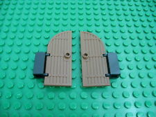 Vintage LEGO Old Brown Arch Door 1 x 3 x 6 Castle Pirate w/Black Hinge Brick