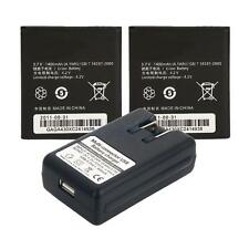 2 X 1400mAh Battery with Dock Wall Charger for Huawei M865 C8650 HB5K1H