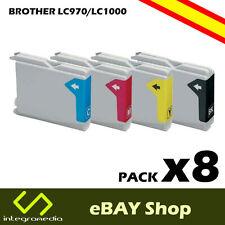 8 Cartuchos Compatibles LC970/LC1000 para impresoras Brother DCP-135C
