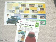 ROVER Cars TimeLine History Mini-Brochure:2000,P5B,800,