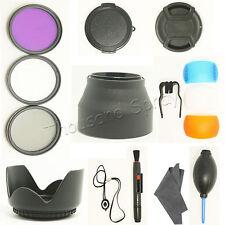 52MM Filter Set + Lens Hood + Cap + Cleaning Kit for Nikon D3200 D3100 D5100