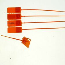 (5)Orange 180mm Plastic Lead Seal Used Container Tanker Freight Security One Use
