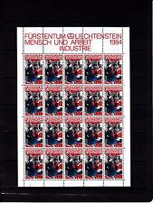 Liechtenstein Series courantes l'homme et le travail 20r feuille 20 TP n° 792