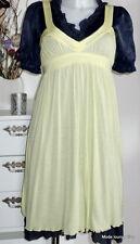 Noa Noa Tunika Kleid dress Ginger Jersey M 38 bird gelb yellow stretch Modal