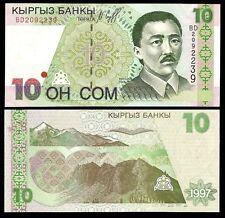 Kyrgyzstan 10 SOM 1997 P 14 UNC