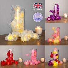 20 LED Rose Flower Fairy String Lamp Garland Lights Cream Pink Purple Red Roses
