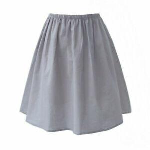 Lady Cotton Underskirt Petticoat Half Slip Aline Elastic Waist Safety Skirt Chic