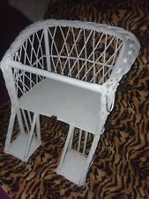 Vintage wicker child's chair / table seat