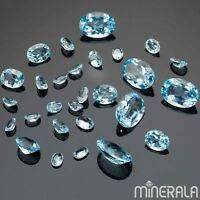 [WHOLESALE] NATURAL SKY BLUE TOPAZ GEMSTONE FACETED OVAL VARIOUS SIZES WP0007E