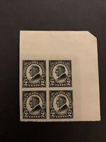 US Stamp Scott #611 2c Harding, UR Corner Block of 4, Mint NH VF. (C26)