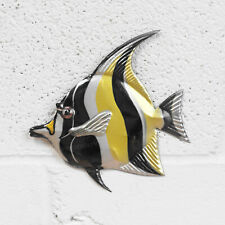 Small Moorish Fish Metal Wall Art Nautical Bathroom Hanging Sculpture Ornament