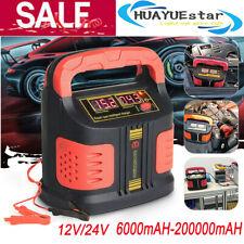 200000mah 12v 24v Car Jump Starter Portable Power Bank Battery Booster Clamp