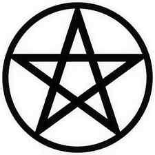 15 x Pentagram Pentacle Halloween Pagan Solstice silhouette craft