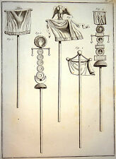 Encyclopédie Méthodique Antiquités Mythologie Enseignes Militaires 1786
