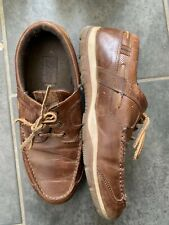 Gents Easy Tan Leather Boat Shoes (Size 6.5/41)