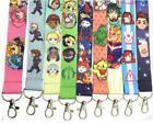 10pcs Popular anime Lanyard For Bus subway ID Card KeyChain Holder gif
