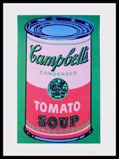 Warhol colored Campbells Soup Can poster stampa d'arte nel telaio in alluminio nero 36x28cm