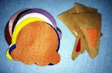 Handmade Felt Learning Activity Colour Match School Ice Cream Cones Homemade