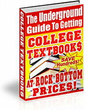 Save Money Buying College TEXTBOOKS At Low Prices - Underground Information (CD)