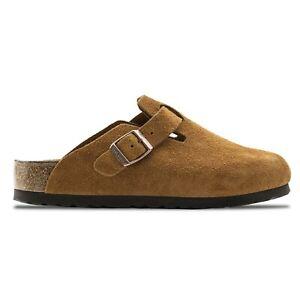 Birkenstock Men's Sandals - Mens Birkenstock Boston SFB VL Clogs - Khaki & Mink