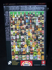 Educa Puzzles Miniature Beer Of The World Bottles 1000 Pieces Man Cave New