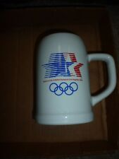 $10 LESS! Los Angeles Olympics Collectible Stein, 1 each Star/Rings white $19.95
