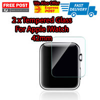 2 X Premium Tempered Glass For Apple Watch 42mm Free Shipping From Melbourne NEW