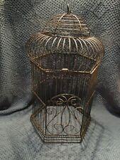 "Black Metal Bird Cage Decorative Bird Cage Decorative Ornament Bird 22"" tall"