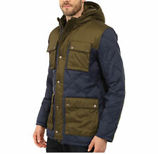 Mens Lucky Brand Diamond Quilted Parka Jacket Blue/Green LARGE 100% New $249reg!