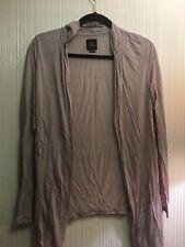 Deletta Cardigan Wrap Top Cover-up Light Grey Anthropolgie Sz M Elegant