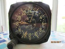 WALTHAM, 8 DAY/15 JEWEL AIRCRAFT CLOCK.