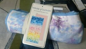 """House of Clouds SAND FREE Microfiber Sunset """"Splash"""" Lawn Beach Towel QUICK DRY"""