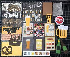 Beer Scrapbook Kit! Project Life, Paper, die cuts, Craft Beer, Brewery, stickers