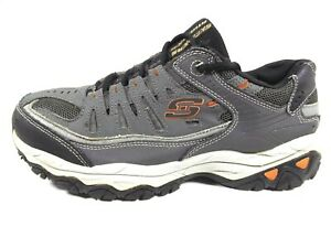 Men's SKECHERS After Burn Leather/Synthetic Athletic Running Shoes US 9, EU 42