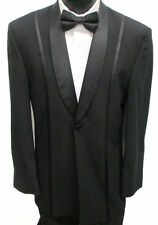 Boys Size Black Jean Yves Tuxedo Jacket Formal Wedding Ring Bearer Kids Coat