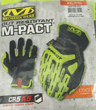 Mechanix Wear CUT RESISTANT MPact Gloves XXL Black/Green HI-VIS Mechanics CR5 A5