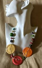WOW Balinese hand made statement wooden beaded necklace